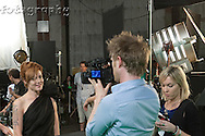 """All of these """"behind the scenes"""" images were taken during the two days of filming Vanessa's rock video, """"This Is Who I Am.""""  All shot on a """"green screen,"""" the background for most of this video was animated.  To see more shots of Vanessa, check out her photos in the Rock & Roll gallery."""