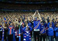 Iceland supporters greeting the team. tifosi ringraziano squadra<br /> Paris 03-07-2016 Stade de France Football Euro2016 France - Iceland / Francia - Islanda Quarter finals <br /> Foto Matteo Ciambelli / Insidefoto