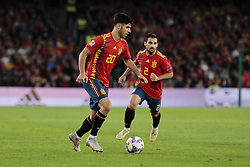 Spain's Marcos Asensio (L) and Jonny Castro (R) during UEFA Nations League 2019 match between Spain and England at Benito Villamarin stadium in Sevilla, Spain. October 15, 2018. Photo by A. Perez Meca/Alterphotos/ABACAPRESS.COM