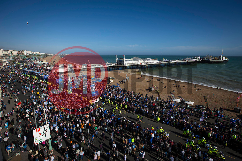 Brighton & Hove Albion open top bus parade passes Brighton Pier - Mandatory by-line: Jason Brown/JMP - 14/05/17 - FOOTBALL - Brighton and Hove Albion, Sky Bet Championship 2017 - Brighton and Hove Albion Promotion Parade
