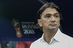 July 11, 2018 - Moscow, Vazio, Russia - Croatia coach Zlatko Dalic during a match between England and Croatia for the semi-final of the 2018 World Cup, held at Lujniki Stadium in Moscow..Croatia wins 2-1. (Credit Image: © Thiago Bernardes/Pacific Press via ZUMA Wire)