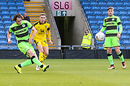 Forest Green Rovers Theo Archibald(18) shoots at goal misses the target during the The FA Cup 1st round match between Oxford United and Forest Green Rovers at the Kassam Stadium, Oxford, England on 10 November 2018.
