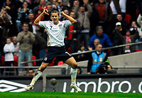 Photo: Alan Crowhurst.<br />England U21 v Italy U21. International Friendly. 24/03/2007. England's David Bentley celebrates his goal 1-1