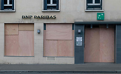 May 1, 2019 - Paris, France - The Prefecture of Police who expects the presence of 2,000 radical activists black bloc asked traders who find themselves on the course of the event to remain closed and barricade. (Credit Image: © Estelle Ruiz/NurPhoto via ZUMA Press)