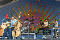 May 3, 2018 - New Orleans, Louisiana, U.S - CRITTER FUQUA, MORGAN JAHNIG, CORY YOUNTS, KETCH SECOR and CHANCE MCCOY of Old Crow Medicine Show during 2018 New Orleans Jazz and Heritage Festival at Race Course Fair Grounds in New Orleans, Louisiana (Credit Image: © Daniel DeSlover via ZUMA Wire)