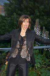 CHRISTINA ESTRADA JUFFALI at a summer party hosted by champagne house Krug held at Debbenham House, 8 Addison Road, London on 28th June 2005.<br />