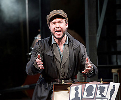 Ragtime <br /> Book by Terrence Mcnally <br /> Music by Stephen Flaherty <br /> Lyrics by Lynn Ahrens<br /> at Charing Cross Theatre <br /> Press photocall<br /> 14th October 2016<br /> directed by Thom Sutherland <br /> <br /> <br /> <br /> Gary Tushaw as Tateh<br /> <br /> <br /> Photograph by Elliott Franks <br /> Image licensed to Elliott Franks Photography Services