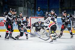 30.11.2018, Ice Rink, Znojmo, CZE, EBEL, HC Orli Znojmo vs Dornbirn Bulldogs, 24. Runde, im Bild v.l. Patrik Novak (HC Orli Znojmo) Radim Matus (HC Orli Znojmo) Teemu Tapio Lassila (HC Orli Znojmo) Scott Timmins (Dorbirn Bulldogs) Dominik Tejnor (HC Orli Znojmo) Rostislav Snajnar (HC Orli Znojmo) // during the Erste Bank Eishockey League 24th round match between HC Orli Znojmo and Dornbirn Bulldogs at the Ice Rink in Znojmo, Czechia on 2018/11/30. EXPA Pictures © 2018, PhotoCredit: EXPA/ Rostislav Pfeffer