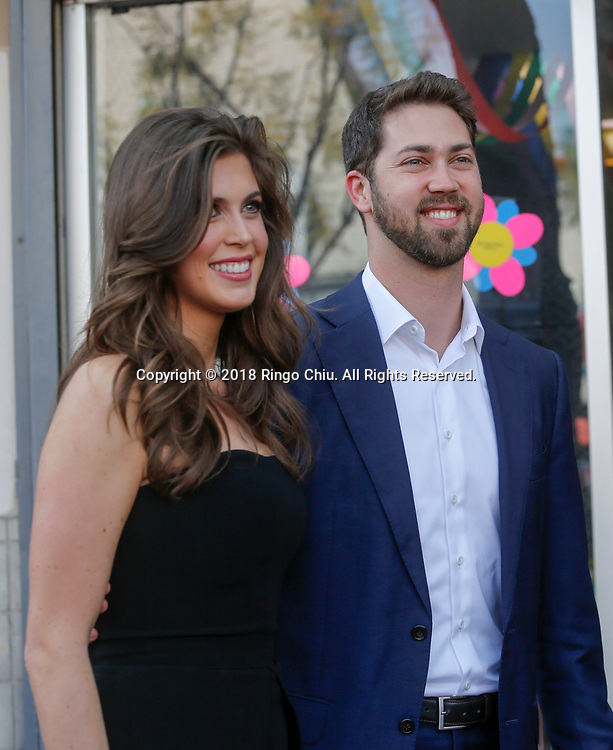 Jessica Altman and James Altman attend a ceremony honoring Lynda Carter with a star on the Hollywood Walk of Fame on Tuesday, April 3, 2018, in Los Angeles. (Photo by Ringo Chiu)<br /> <br /> Usage Notes: This content is intended for editorial use only. For other uses, additional clearances may be required.