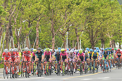 September 24, 2017 - Zhuhai, Guangdong, China - Members of Androni Sidermec Bottecchia team control the peloton during the fifth and final stage of the 2017 Tour of China 2, the 91.2km Zhuhai Hengqin Circuit Race. .On Sunday, 24 September 2017, in Hengqin district, Zhuhai City, Guangdong Province, China. (Credit Image: © Artur Widak/NurPhoto via ZUMA Press)