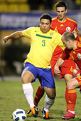 Ronaldo Nazario durante jogo amistoso em homenagem por sua carreira de sucesso em seu último jogo pela seleção brasileira de futebol, um amistoso contra Roménia em 07 de junho de 2011 no Estádio do Pacaembu, em São Paulo. FOTO: Jefferson Bernardes/Preview.com