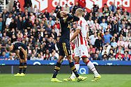 Dele Alli of Tottenham Hotspur reacts to missing a chance to score. Premier league match, Stoke City v Tottenham Hotspur at the Bet365 Stadium in Stoke on Trent, Staffs on Saturday 10th September 2016.<br /> pic by Chris Stading, Andrew Orchard sports photography.