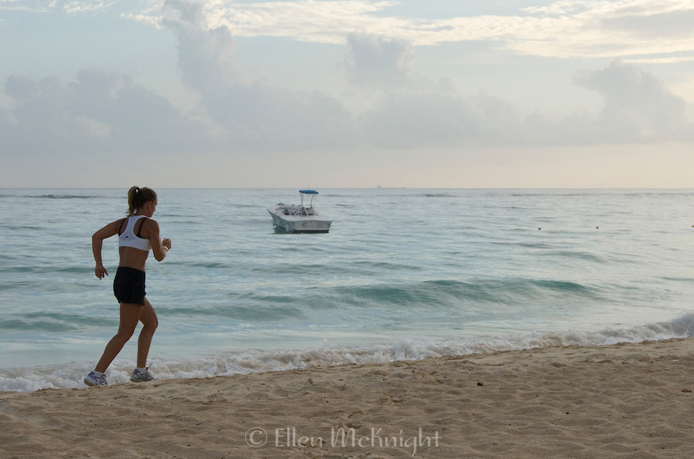 Jogging on the beach in Punta Cana