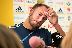 July 4, 2018 - Gelendzhik, Russia - 180704 Andreas Granqvist of the Swedish national football team in the mixed zone during the FIFA World Cup on July 4, 2018 in Gelendzhik..Photo: Petter Arvidson / BILDBYRÃ…N / kod PA / 92081 (Credit Image: © Petter Arvidson/Bildbyran via ZUMA Press)