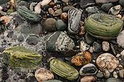 Beach rocks, Gillespie's Beach, near Fox Glacier, West Coast, New Zealand.