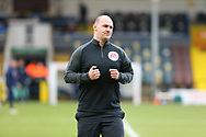 Referee Bobby Madley  during the EFL Sky Bet League 1 match between Rochdale and Wigan Athletic at the Crown Oil Arena, Rochdale, England on 16 January 2021.