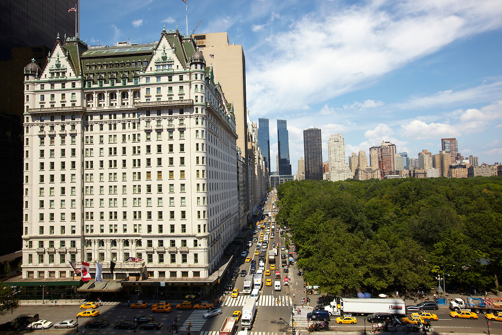 View of The Plaza, Central Park and Central Park South from the Sherry Netherland, 781 Fifth Avenue, 9th floor