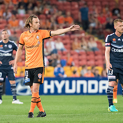 BRISBANE, AUSTRALIA - OCTOBER 7: Brett Holman of the Roar gives instructions during the round 1 Hyundai A-League match between the Brisbane Roar and Melbourne Victory at Suncorp Stadium on October 7, 2016 in Brisbane, Australia. (Photo by Patrick Kearney/Brisbane Roar)