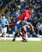 Photo: Mark Stephenson.<br /> Birmingham City v Coventry City. Coca Cola Championship. 01/04/2007.Birmingham's Cameron Jerome fights for the ball