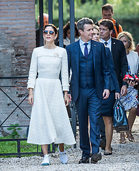 The Crown Prince couple visit the ruins of one of Rome's largest public baths. 06 Nov 2018 Pictured: Crown Prince Frederik, Crown Princess Mary. Photo credit: Hanne Juul/Aller Media/MEGA TheMegaAgency.com +1 888 505 6342