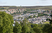 General view of Blaenavon World Heritage town,Torfaen, Monmouthshire, South Wales, UK