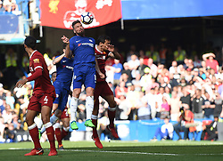 Chelsea's Olivier Giroud scores his side's first goal of the game