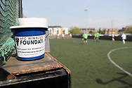 AFC Wimbledon foundation walking football during the EFL Sky Bet League 1 match between AFC Wimbledon and Oldham Athletic at the Cherry Red Records Stadium, Kingston, England on 21 April 2018. Picture by Matthew Redman.