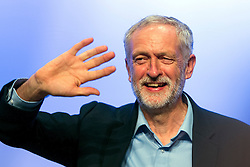 © Licensed to London News Pictures. 15/09/2015. Brighton, UK. New leader of the Labour Party JEREMY CORBYN speaking at the 2015 TUC (Trades Union Congress) conference, held at the  Brighton Centre in Brighton, East Sussex, UK. Photo credit: Ben Cawthra/LNP