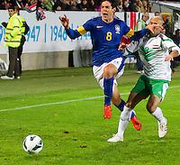 Malmö  2012-10-11  Fotboll  Landskamp  Brazil    - Iraq   :  Brazil 8 Kaka Iraq3 Basi Abbas.(Foto: Christer Thorell, Pic-Agency.com) Nyckelord : fotboll , football , soccer , Landskamp , Herrar , Men , Brazil , Iraq , .
