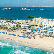 Aerial view of the Gran Caribe Real hotel.