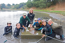Earthwatch Team With Shovelnose Guitarfish