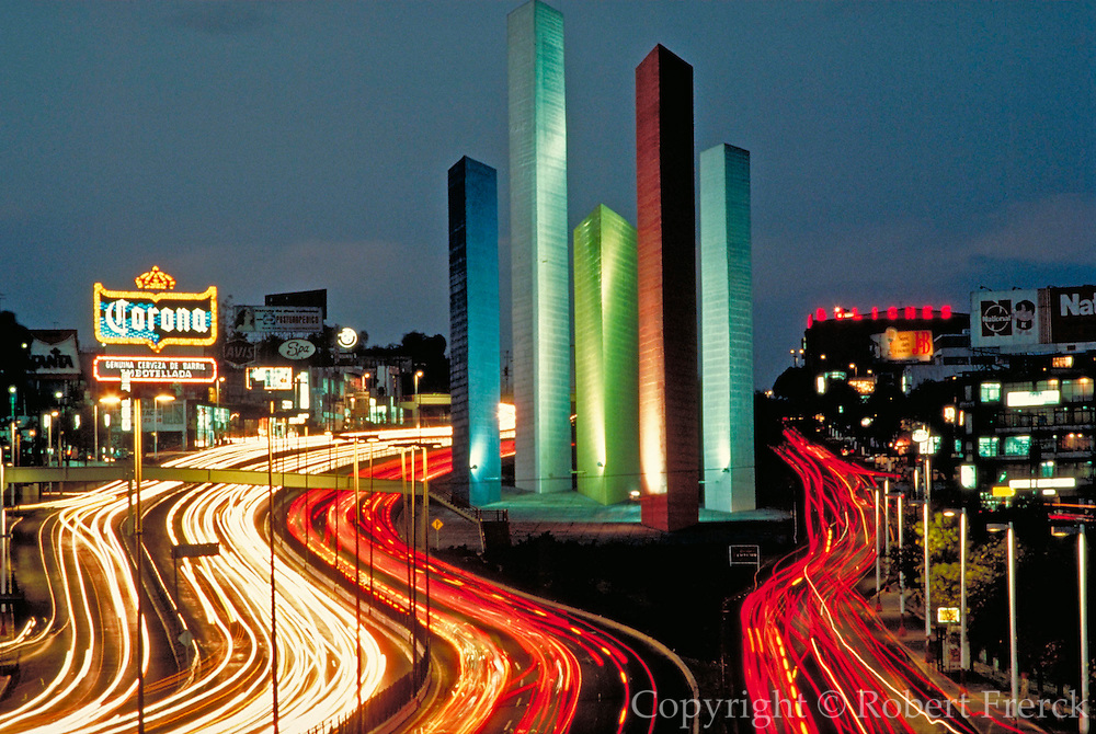 MEXICO, MEXICO CITY Satellite City, sculptural towers