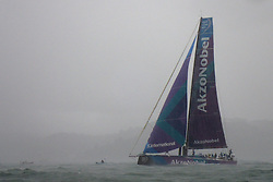 November 3, 2017 - Lisbon, Portugal - Team AkzoNobel captained by Dutch Simeon Tienpont in action during the Volvo Ocean Race 2017-2018 In-port Race at the Tagus River in Lisbon, Portugal on November 3, 2017. (Credit Image: © Pedro Fiuza/NurPhoto via ZUMA Press)