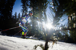 Simon Fourcade (FRA) during Men 15 km Mass Start at day 4 of IBU Biathlon World Cup 2015/16 Pokljuka, on December 20, 2015 in Rudno polje, Pokljuka, Slovenia. Photo by Ziga Zupan / Sportida