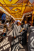 A market for tourists near the entrance to the Valley of the Kings archaeological site, near Luxor, Egypt