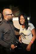 l to r: Common and DJ Beverly Bond at the Common Celebration Capsule Line Launch with Softwear by Microsoft at Skylight Studios on December 3, 2008 in New York City..Microsoft celebrates the launch of a limited-edition capsule collection of SOFTWEAR by Microsoft graphic tees designed by Common. The t-shirt  designs. inspired by the 1980's when both Microsoft and and Hip Hop really came of age, include iconography that depicts shared principles of the technology company and the Hip Hop Star.