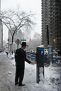 New York, Broadway under the snow