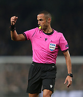 Referee Marco Guida<br /> <br /> Photographer Rob Newell/CameraSport<br /> <br /> UEFA Champions League Group B - Tottenham Hotspur v Crvena Zvezda - Tuesday 22nd October 2019  - Tottenham Hotspur Stadium - London<br />  <br /> World Copyright © 2018 CameraSport. All rights reserved. 43 Linden Ave. Countesthorpe. Leicester. England. LE8 5PG - Tel: +44 (0) 116 277 4147 - admin@camerasport.com - www.camerasport.com