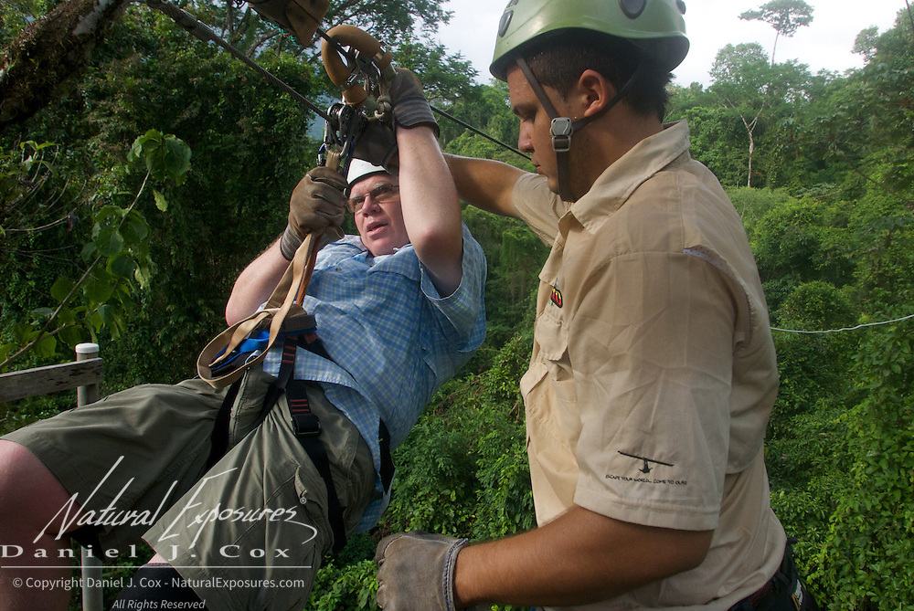 Paul Zip Lining. Costa Rica.