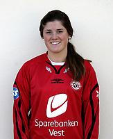 Fotball / Football La Manga - Spain 25.03.2007 <br /> Toppserien kvinner<br /> Portrett Portretter <br /> Arna-Bjørnar - Maren Mjelde