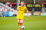 Stuart Sinclair of Walsall during the EFL Sky Bet League 2 match between Stevenage and Walsall at the Lamex Stadium, Stevenage, England on 20 February 2021.