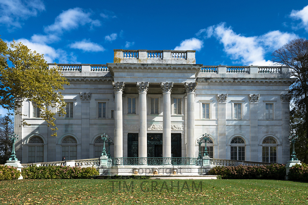 Marble House Mansion built 1892, one of the famous elegant Newport Mansions on Rhode Island, USA
