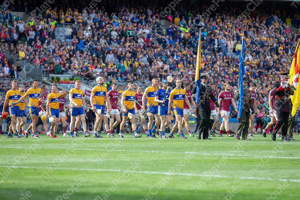 Clare Team prior to throw in