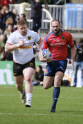 March 11, 2018 - Madrid, Madrid, Spain - Player from Spain runs with the ball during the match of Spain against Germany as part of the Rugby Europe Championship on day 4 of Rugby World Cup Trophy Tour on March 11, 2018 in Madrid, Spain. (Credit Image: © Oscar Gonzalez/NurPhoto via ZUMA Press)