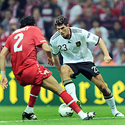 Germany's Mario GOMEZ (R) during their UEFA EURO 2012 Qualifying round Group A matchday 19 soccer match Turkey betwen Germany at TT Arena in Istanbul October 7, 2011. Photo by TURKPIX