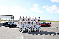 The Glamorgan CCC squad pose for a team photograph. Glamorgan CC media day and photocall at Aston Martin, St Athan, near Cardiff , South Wales on Thursday 6th April 2017.<br /> pic by Andrew Orchard, Andrew Orchard sports photography.