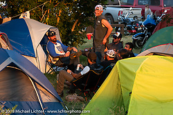 Camping at the Buffalo Chip during the 78th annual Sturgis Motorcycle Rally. Sturgis, SD. USA. Thursday August 9, 2018. Photography ©2018 Michael Lichter.