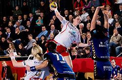 Tine Stange  of Larvik  during 3rd Main Round of Women Champions League handball match between RK Krim Mercator, Ljubljana and Larvik HK, Norway on February 19, 2010 in Arena Kodeljevo, Ljubljana, Slovenia. Larvik defeated Krim 34-30. (Photo by Vid Ponikvar / Sportida)
