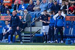 Falkirk's manager Peter Houston. Kilmarnock 4 v 0 Falkirk, second leg of the Scottish Premiership play-off final.