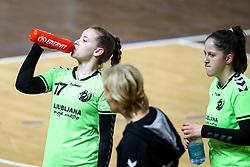 Lana Kukovec Neumann of RK Olimpija during handball match between RK Olimpija and ZRK Krka Novo Mesto in Round #10 of National Youth League in Season 2020-21, on May 2, 2021 in Hala Tivoli, Ljubljana, Slovenia. Photo by Matic Klansek Velej / Sportida